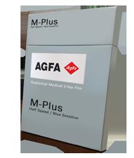 AGFA Radiomat M-Plus  X-ray Film Half Speed / Blue Sensitive