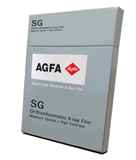AGFA Radiomat SG  Orthochromatic X-ray Film Medium Speed / High Contrast